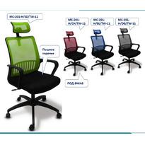 Кресло Бюрократ MC-201-H/TW-11 спинка сетка,сиденье черное