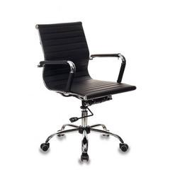 Кресло руководителя Бюрократ CH-883-LOW/BLACK низкая спинка черный искусственная кожа крестовина хром №1047688