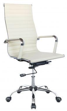 Кресло Бюрократ CH-883 / высокая спинка,(черная,белая) иск.кожа