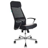 Кресло Бюрорат T-995SL/BLACK черная иск.кожа/сетка,опора металл