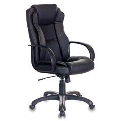 Кресло руководителя Бюрократ CH-839/BLACK черный Пегас искусственная кожа № 1088448