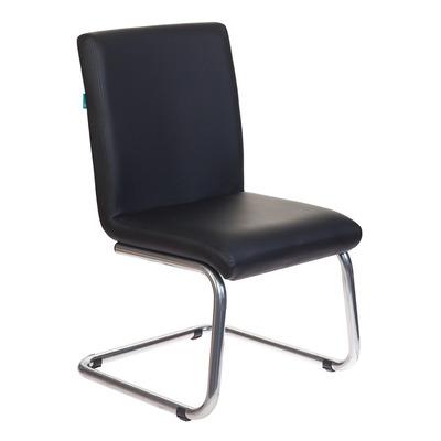 Кресло Бюрократ CH-250-V черный искусственная кожа полозья металл хром  № 1098331