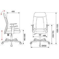 Кресло Бюрократ CH-606/BL+TW-11 черный искусст.кожа/ткань №1110367
