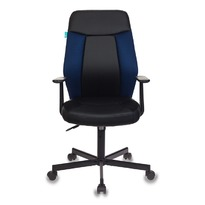 Кресло Бюрократ CH-606/BL+TW-10N черный/синий искусст.кожа/ткань  № 1110368