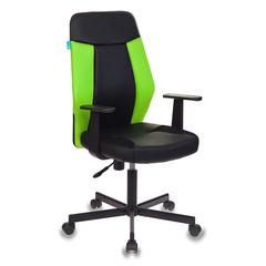 Кресло Бюрократ CH-606/BL+TW-18 черный/салатовый искусст.кожа/ткань  № 1110369