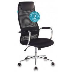 Кресло руководителя Бюрократ KB-9N/BLACK черный TW-01 TW-11 сетка/ткань крестовина хром №1140271