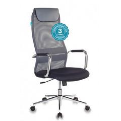 Кресло руководителя Бюрократ KB-9N/DG/TW-12 серый TW-04 TW-12 сетка/ткань крестовина хром № 1140273