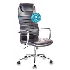 Кресло руководителя Бюрократ KB-9N/ECO/BLACK черный искусственная кожа крестовина хром № 1140275