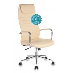 Кресло руководителя Бюрократ KB-9N/ECO/OR-12 бежевый искусственная кожа крестовина хром № 1140276