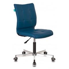 Кресло Бюрократ CH-330M/OR-03 без подлокотников синий искусственная кожа крестовина металл № 1140651