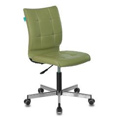 Кресло Бюрократ CH-330M/GREEN без подлокотников зеленый Best 79 искусственная кожа крестовина металл № 1140658
