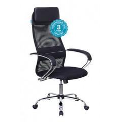 Кресло руководителя Бюрократ CH-608SL/BLACK спинка сетка черный TW-01 TW-11 искусст.кожа/ткань крестовина хром № 1141495