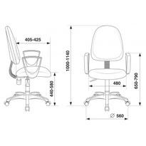 Кресло Бюрократ CH-1300N/3C1 серый №1215476
