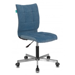 Кресло Бюрократ CH-330M/VELV86 голубой Velvet 86 крестовина металл № 1160325