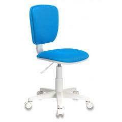 Кресло детское Бюрократ CH-W204NX/BLUE голубой TW-55 (пластик белый) № 1160520