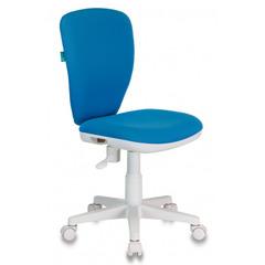 Кресло детское Бюрократ KD-W10/26-24 голубой 26-24 (пластик белый)  № 1162149