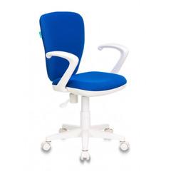 Кресло детское Бюрократ KD-W10AXSN/26-21 синий 26-21 (пластик белый) № 1162185