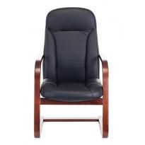 Кресло Бюрократ T-9923WALNUT-AV черный кожа полозья дерево № 1163899