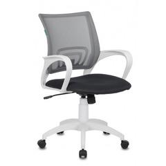 Кресло Бюрократ CH-W695N/DG/TW-12 темно-серый TW-04 TW-12 сетка/ткань (пластик белый) № 1169418