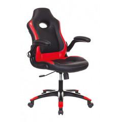 Кресло игровое Бюрократ VIKING-1N/BL-RED черный/красный искусственная кожа №1180812