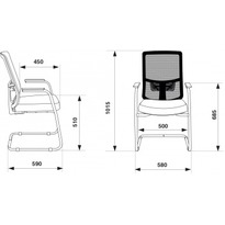Кресло Бюрократ MC-619N/B/26-B01 на полозьях черный №1183002