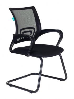 Кресло Бюрократ CH-695N-AV/B/TW-11 на полозьях черный TW-01 сиденье черный TW-11 № 1183392