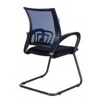 Кресло Бюрократ CH-695N-AV/BL/TW-11 на полозьях синий TW-05 сиденье черный TW-11 № 1183803