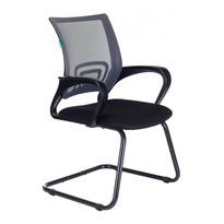 Кресло Бюрократ CH-695N-AV/DG/TW-11 на полозьях серый TW-04 сиденье черный TW-11 № 1183804
