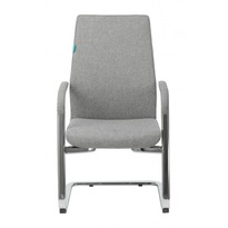 Кресло Бюрократ _JONS-LOW-V/CASHGREY на полозьях серый № 1185262