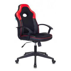Кресло игровое Бюрократ VIKING-11/BL-RED черный/красный искусст.кожа/ткань № 1192514