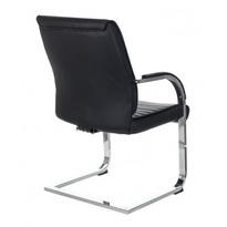 Кресло Бюрократ T-8010N-LOW-V/BLACK на полозьях черный Leather Black искусственная кожа №1195653