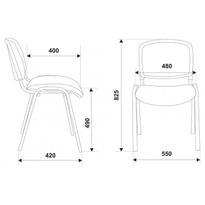 Стул Бюрократ ВИКИ/ОРАНЖ спинка сетка TW-38-3 сиденье оранжевый TW-96-1 № 1198710