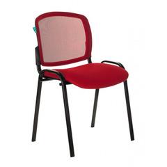 Стул Бюрократ ВИКИ/КР спинка сетка TW-35N сиденье красный TW-97N № 1198711