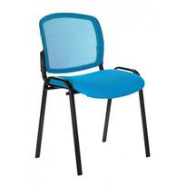 Стул Бюрократ ВИКИ/ГОЛ спинка сетка TW-31 сиденье голубой TW-55 № 1198712