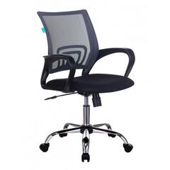 Кресло Бюрократ CH-695N/SL/DG/TW-11 темно-серый TW-04 сиденье черный TW-11 крестовина хром № 1207776