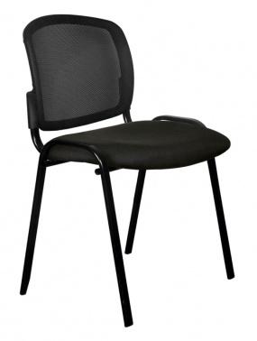 Стул Бюрократ ВИКИ/ЧЕРН спинка сетка черный TW-01 сиденье черный 3C11 № 1358110