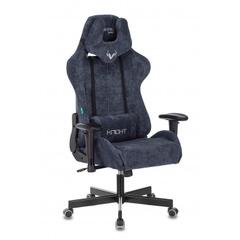 Кресло игровое Бюрократ Zombie VIKING KNIGHT Fabric синий Light-27 с подголов. крестовина металл № 1372993