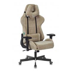 Кресло игровое Бюрократ Zombie VIKING KNIGHT Fabric песочный Light-21 с подголов. крестовина металл № 1372994