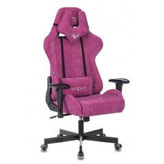 Кресло игровое Бюрократ Zombie VIKING KNIGHT Fabric малиновый Light-15 с подголов. крестовина металл № 1372997