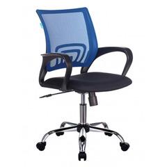 Кресло Бюрократ CH-695N/SL/BL/TW-11 спинка сетка синий TW-05 сиденье черный TW-11 крестовина хром № 1381546