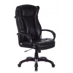 Кресло руководителя Бюрократ CH-879N черный Leather Venge Black искусственная кожа крестовина пластик № 1535167