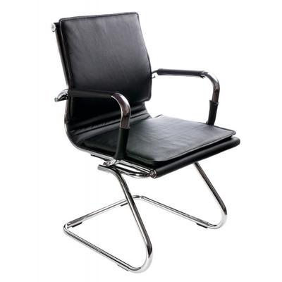 Кресло Бюрократ Ch-993-Low-V черный искусственная кожа низкая спинка полозья металл хром №664073