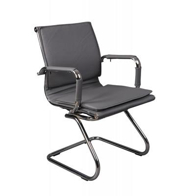Кресло Бюрократ CH-993-Low-V серый искусственная кожа низк.спин. полозья металл хром №813067