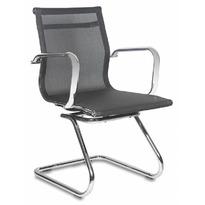 Кресло Бюрократ CH-993-Low-V черный M01 сетка низк.спин. полозья металл хром №849783