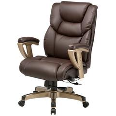 Кресло Бюрократ Т-9999( коричневый, черный)