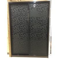 Шкаф-купе с черным стеклом с рисунком