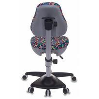 Кресло детское Бюрократ KD-2/G/PENCIL-BL синий карандаши №490142