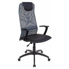 Кресло руководителя Бюрократ KB-8/DG/TW-12 серая сетка №496676