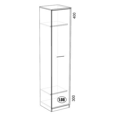 СГ-5 шкаф для одежды узкий