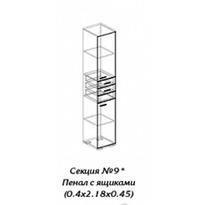 Персона секция № 9 пенал с ящиком